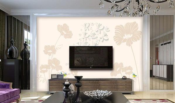 2015现代简约时尚电视背景墙客厅装修效果图