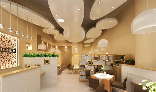 清新自然是田园风格甜品店的主要特点.